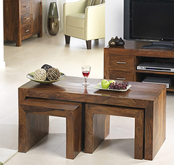 Sheesham Wood Furniture Nest of Tables