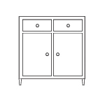 Sideboard Cupboard and Drawers
