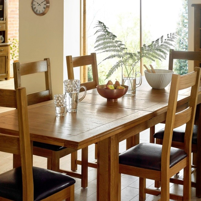 Solid Wood Dining Table for Christmas