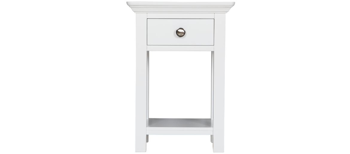 Appleton Painted White Open Bedside Table Main