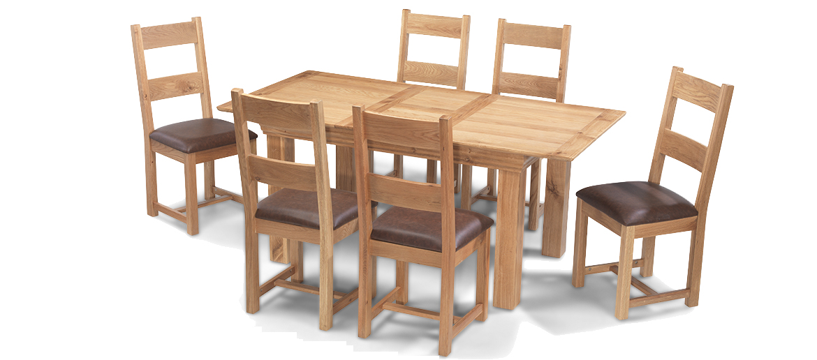 Extending Dining Table And 6 Chairs Oak Cool Solid Oak Extending