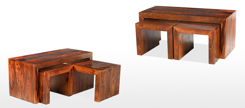 Cube Sheesham Long John Coffee Table ...