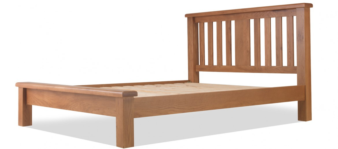 Marton Oak 5ft King Size Bed Low Foot