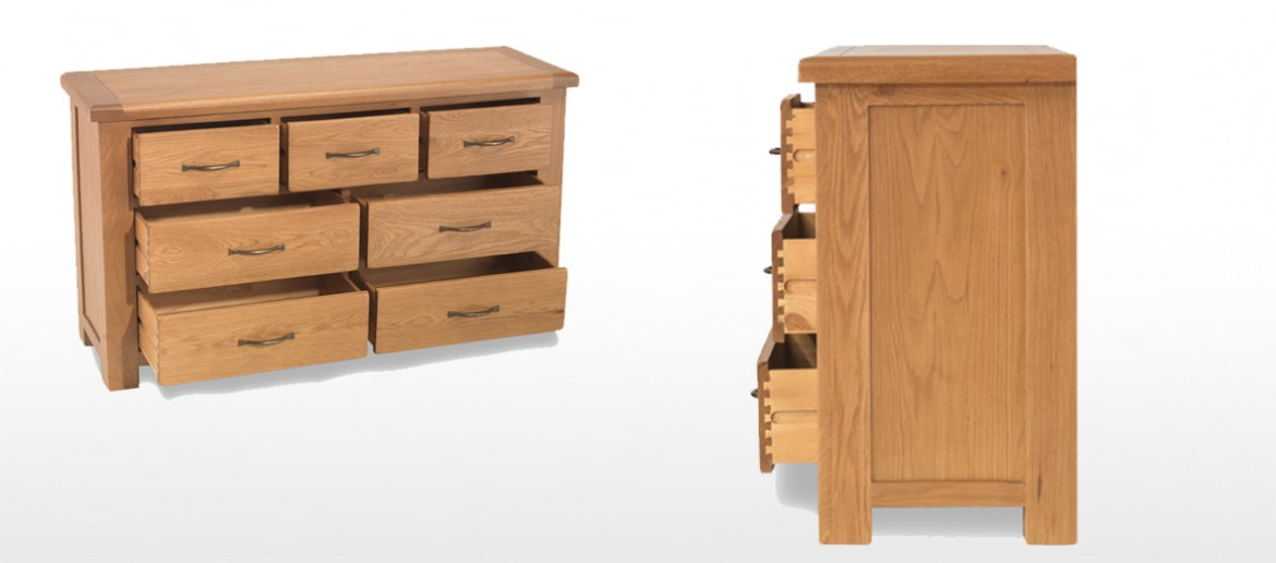 Marton Oak 7 Drawer Chest