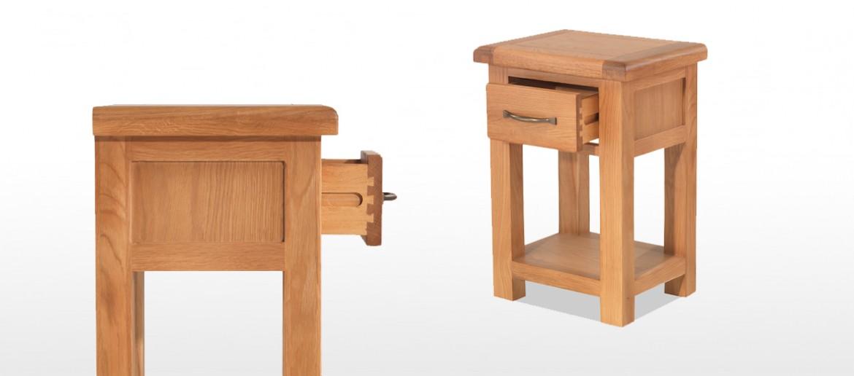 Marton Oak 1 Drawer Bedside