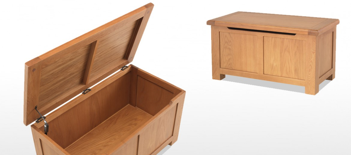 Marton Oak Blanket Box