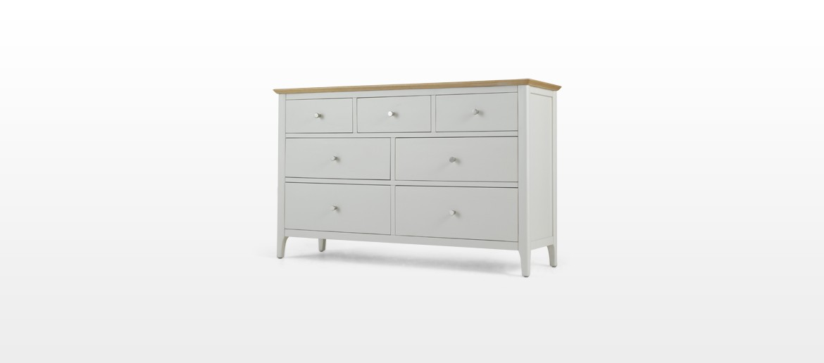 Merideth Painted 7 Drawer Chest Drawers