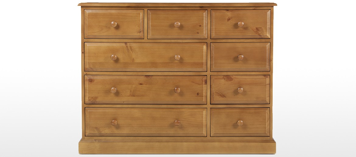 Essentials Pine 9 Drawer Chest of Drawers