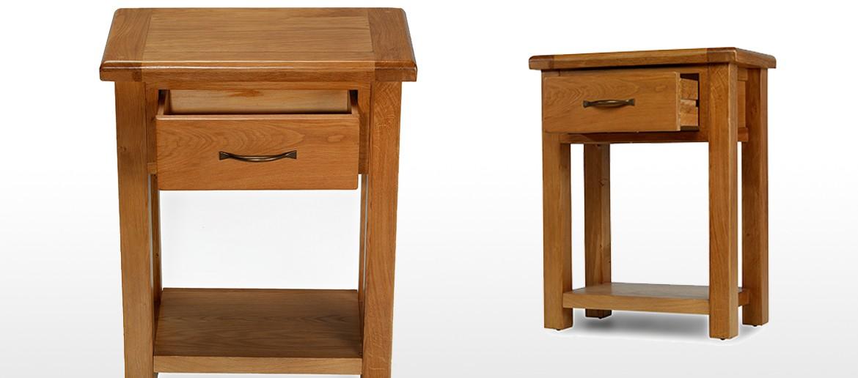 Barham Oak Small Hall Table