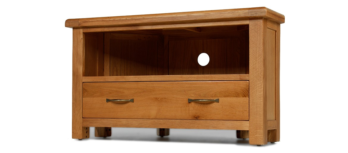 Barham Oak Corner TV Unit