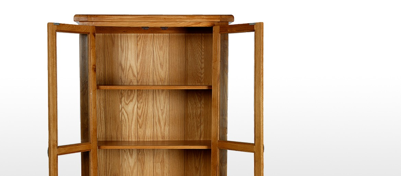 Barham Oak Glazed Display Cabinet