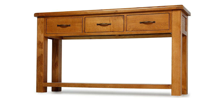 Barham Oak Large Console Table