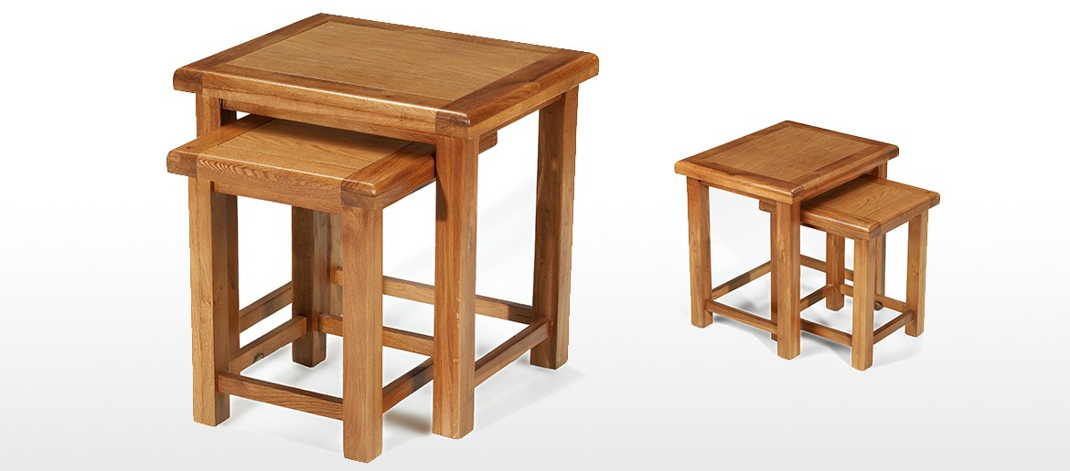 Barham Oak Nest of 2 Tables