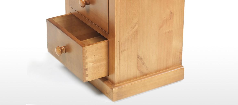 Devon Pine Kids 3 Drawer Bedside Cabinet