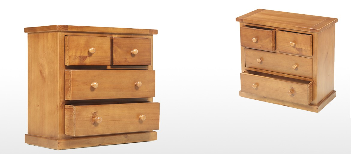 Pine Chest Of Drawers ~ Devon pine over chest of drawers quercus living