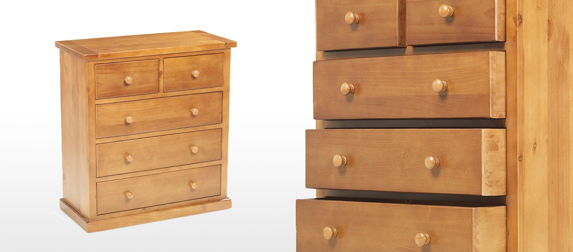Devon Pine 2 Over 3 Chest of Drawers