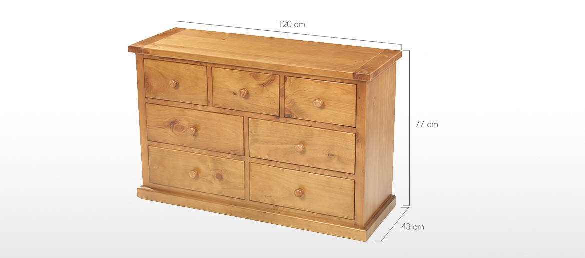 Devon Pine 3 Over 4 Chest of Drawers