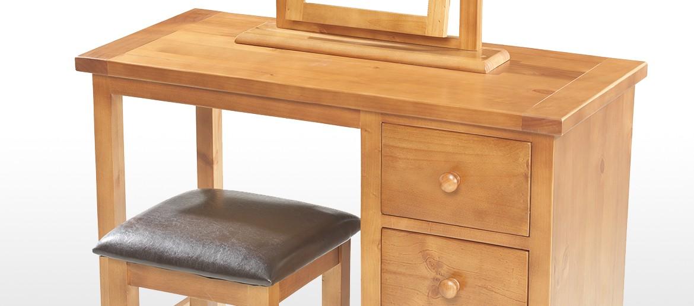 Devon pine dressing table set quercus living