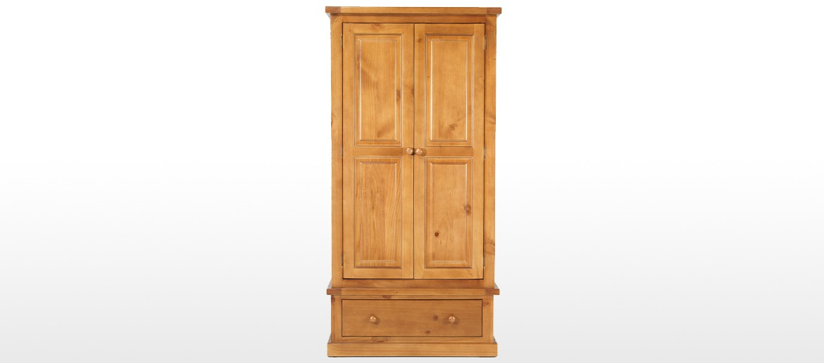 Devon Pine Gents Double Wardrobe