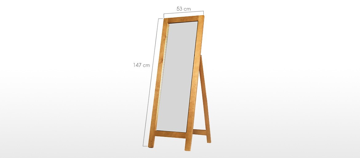 Devon Pine Cheval Mirror