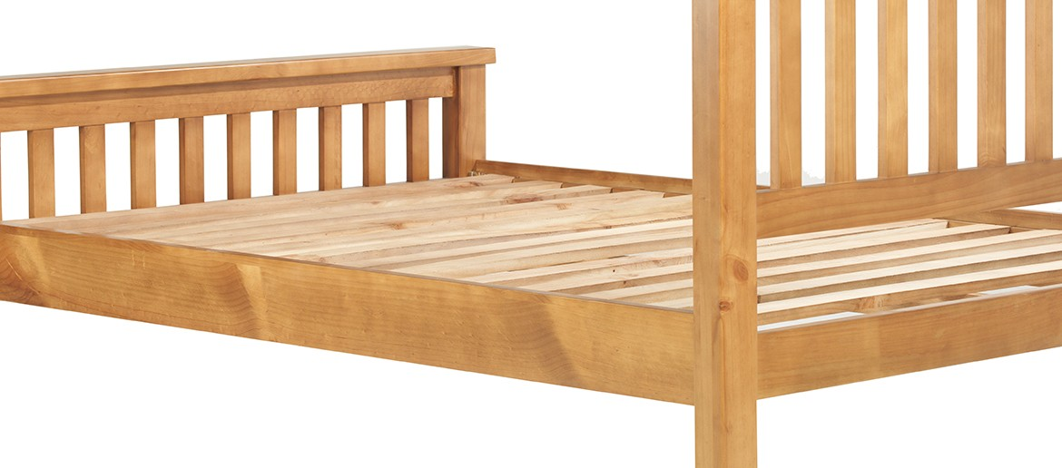 "Devon Pine Double Bed (4' 6"")"