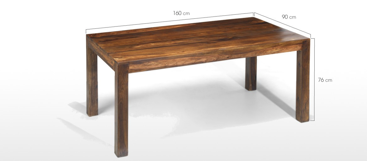 Cube Sheesham 160 cm Dining Table