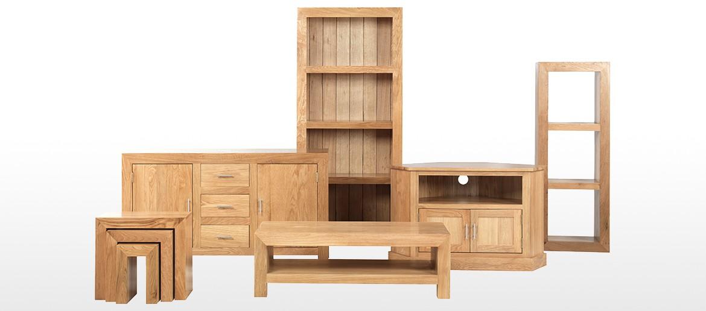 Cube Oak Slim Jim Bookcase