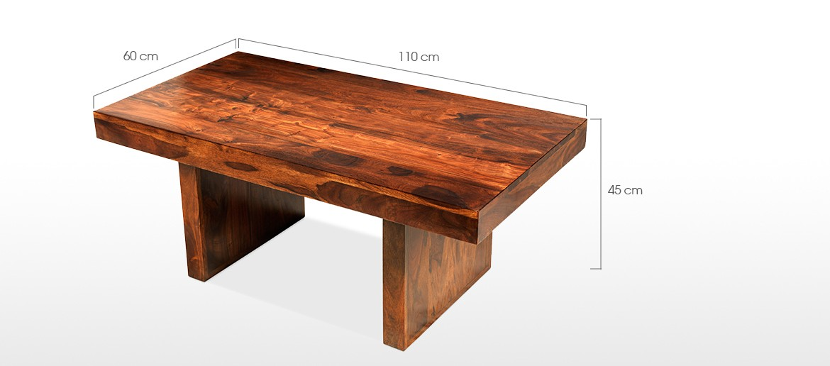 Cube Sheesham Block Coffee Table