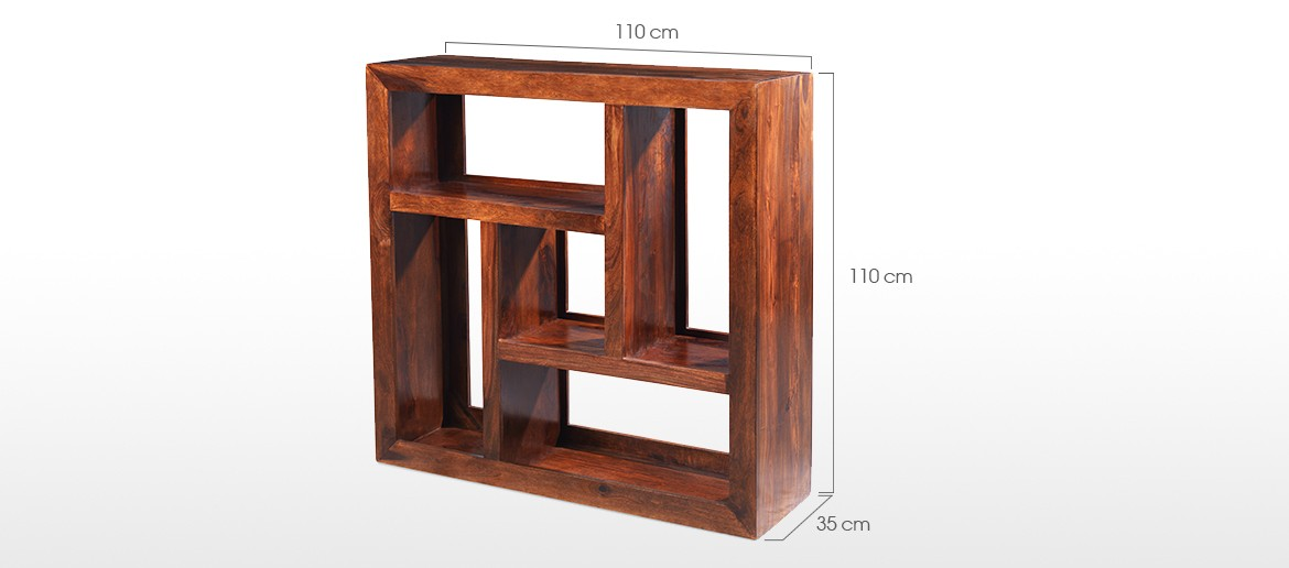 Cube Sheesham Display Multi Shelf