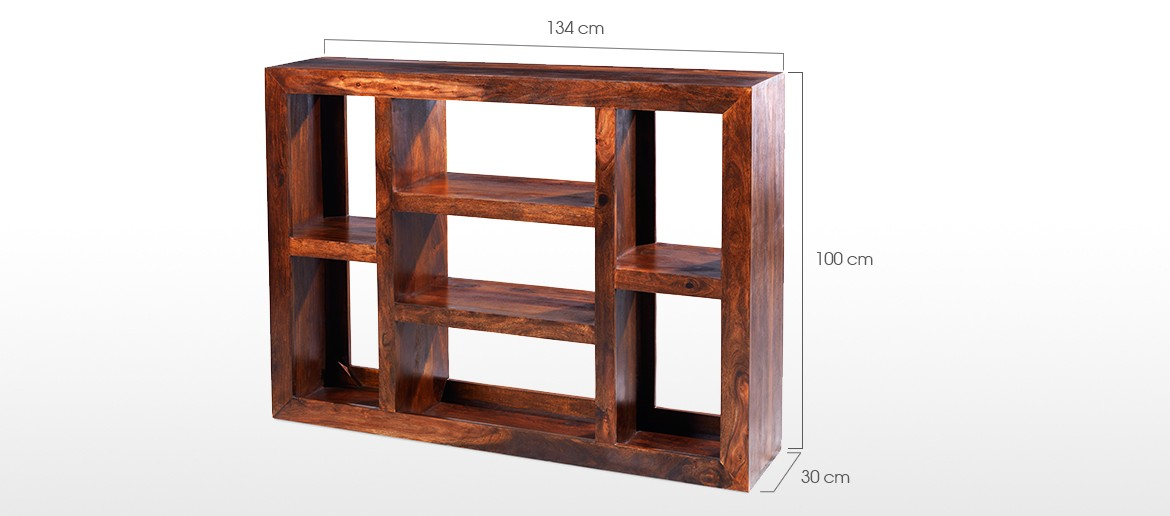 Cube Sheesham Large Multi Shelf
