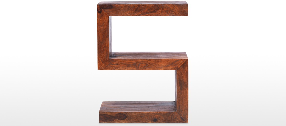 Cube Sheesham Side Table
