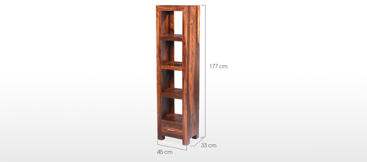 Cube Sheesham Slim Jim Bookcase
