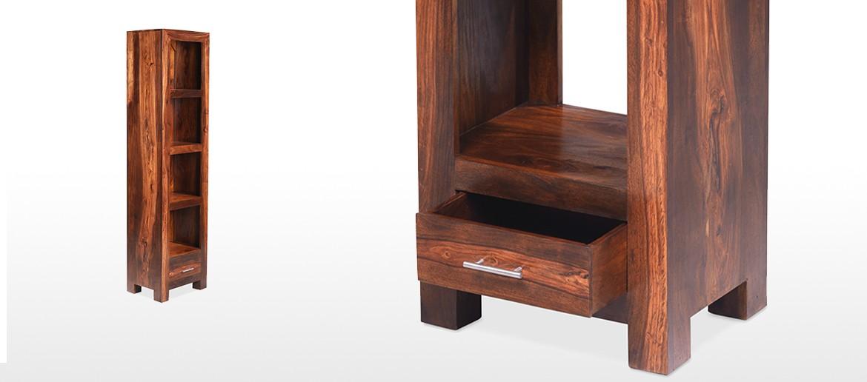 Cube Sheesham Slim Jim Bookcase