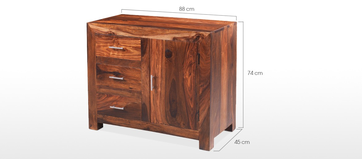 Cube Sheesham Small Sideboard