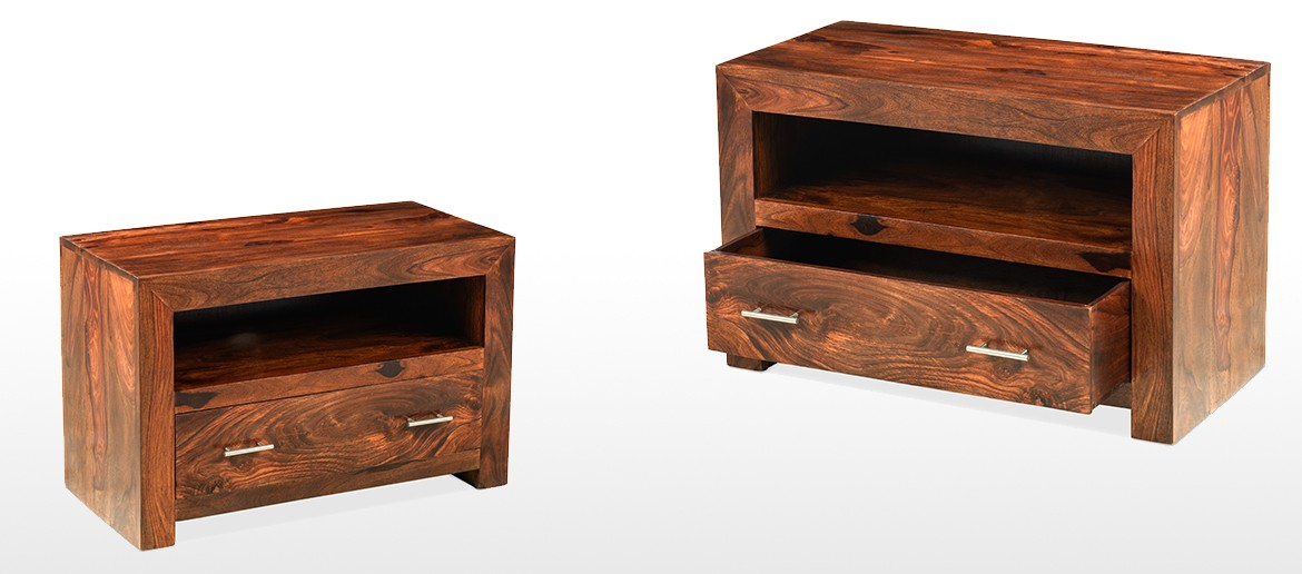 Cube Sheesham Square TV Stand