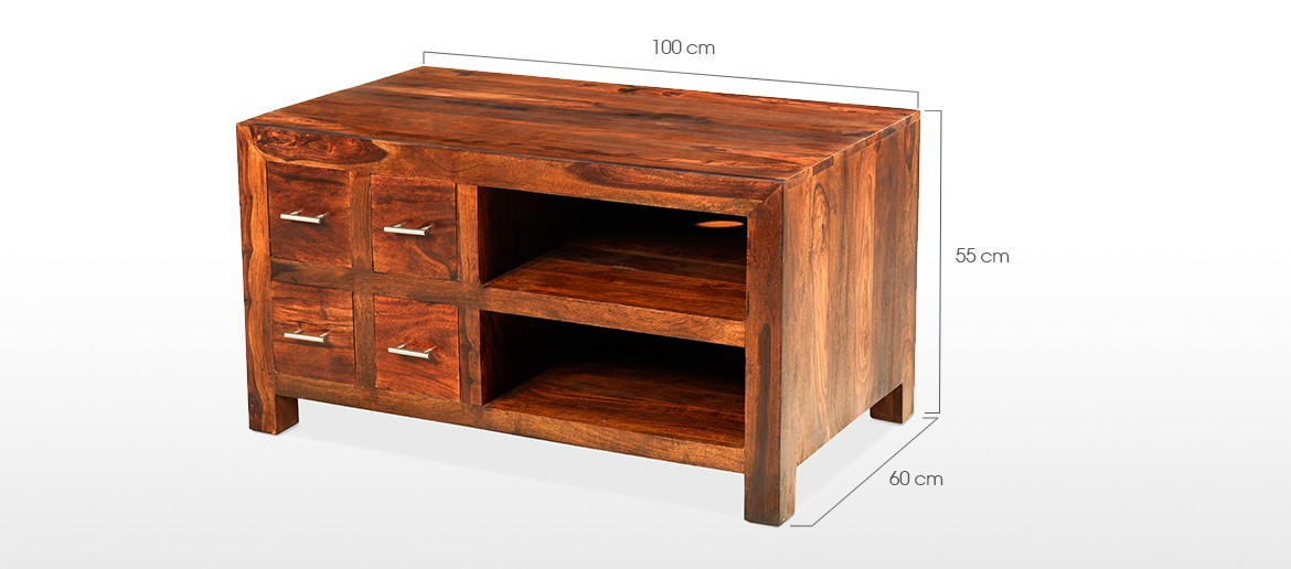 Cube Sheesham TV Cabinet