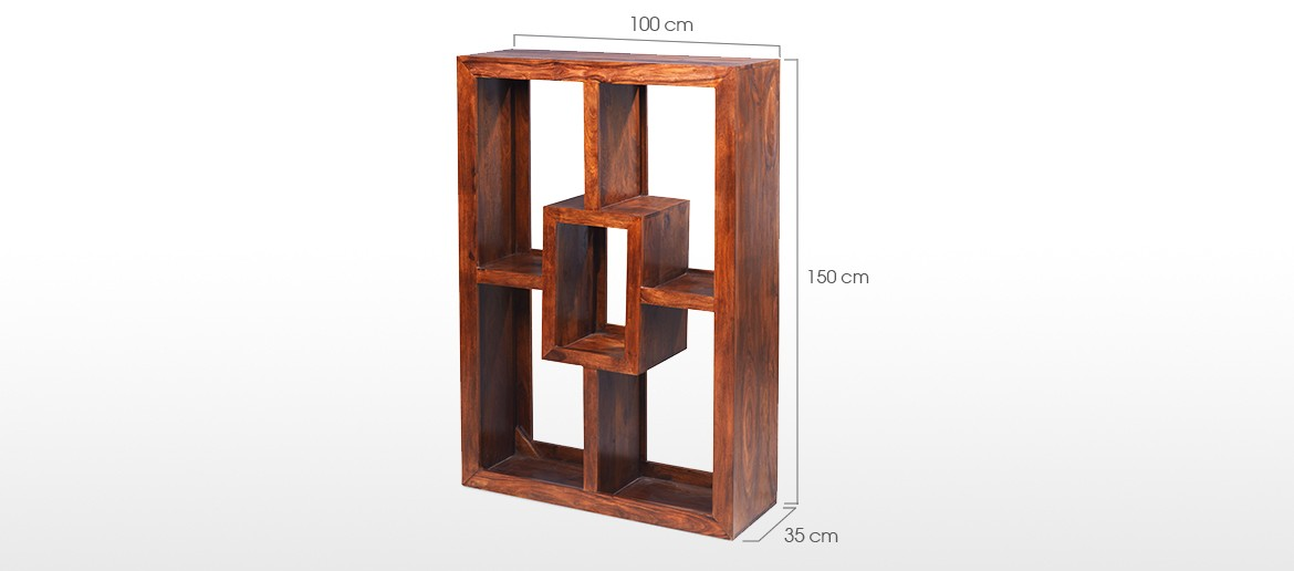 Cube Sheesham Yoga Bookcase
