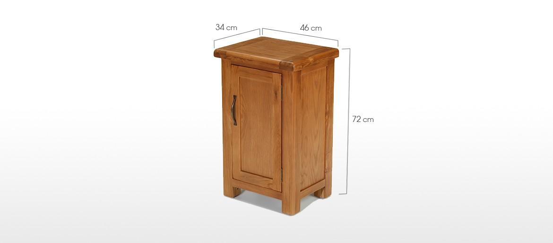 Barham Oak Petite 1 Door Cabinet