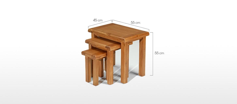 Barham Oak Nest of 3 Tables