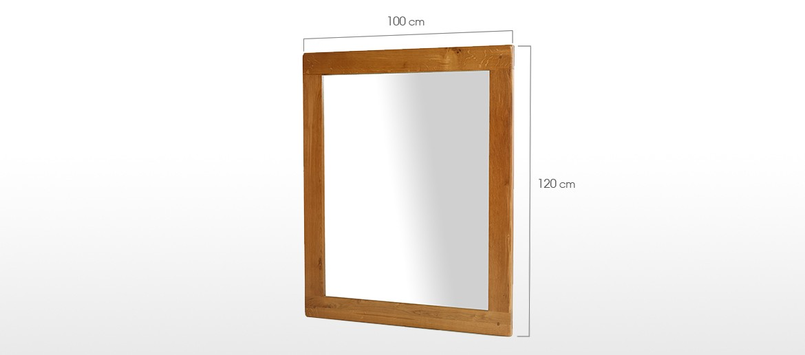 Barham Oak Large Wall Mirror