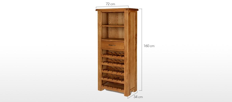 Barham Oak Tall Wine Rack Unit