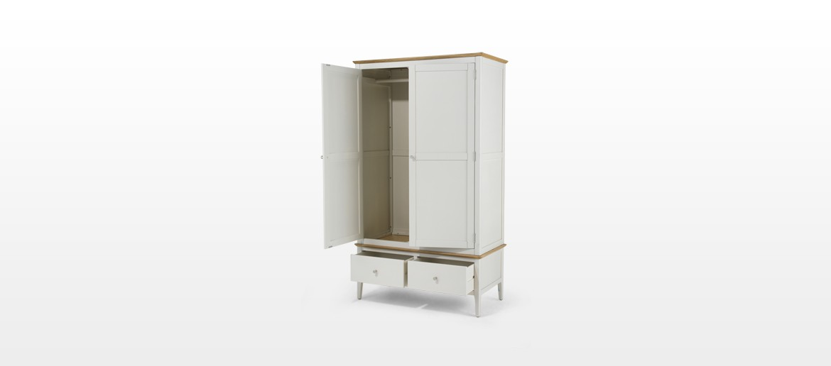 Merideth Painted Double Wardrobe with Drawer