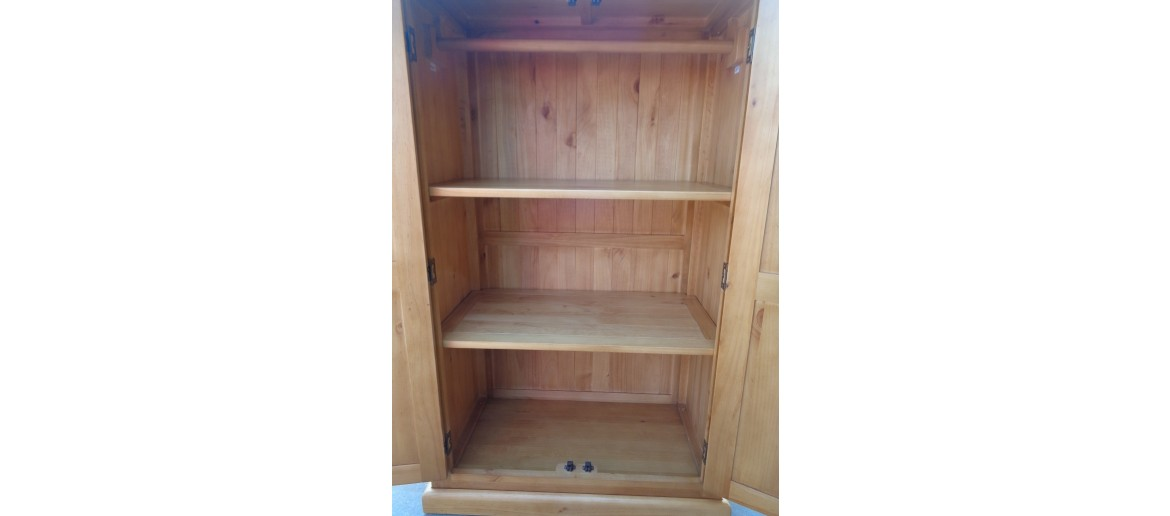 Devon Pine Kids Double Wardrobe
