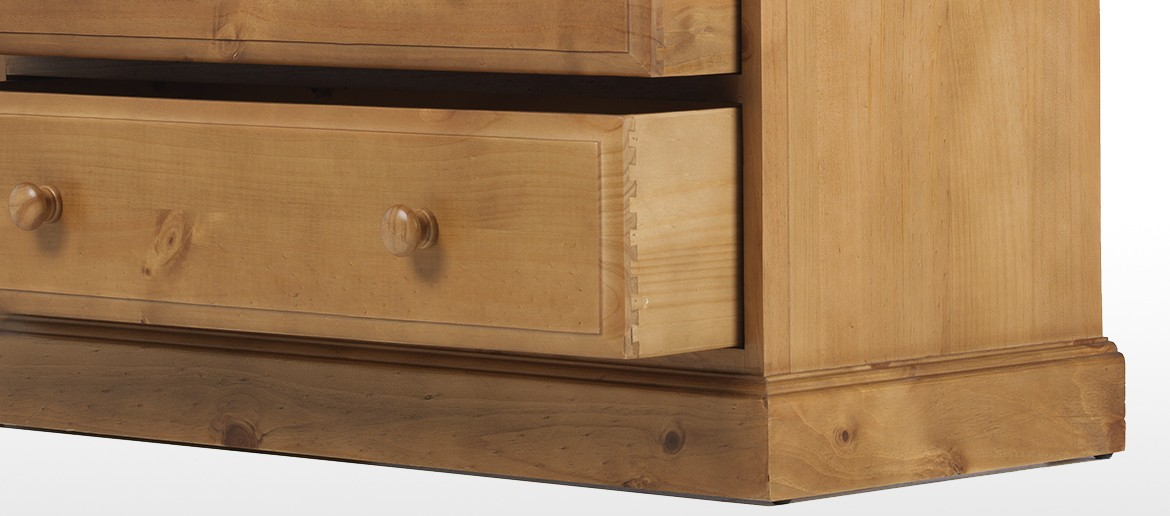 Essentials Pine 2 Over 3 Drawer Chest of Drawers