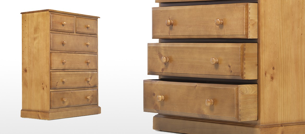 Essentials Pine 6 Drawer Chest of Drawers