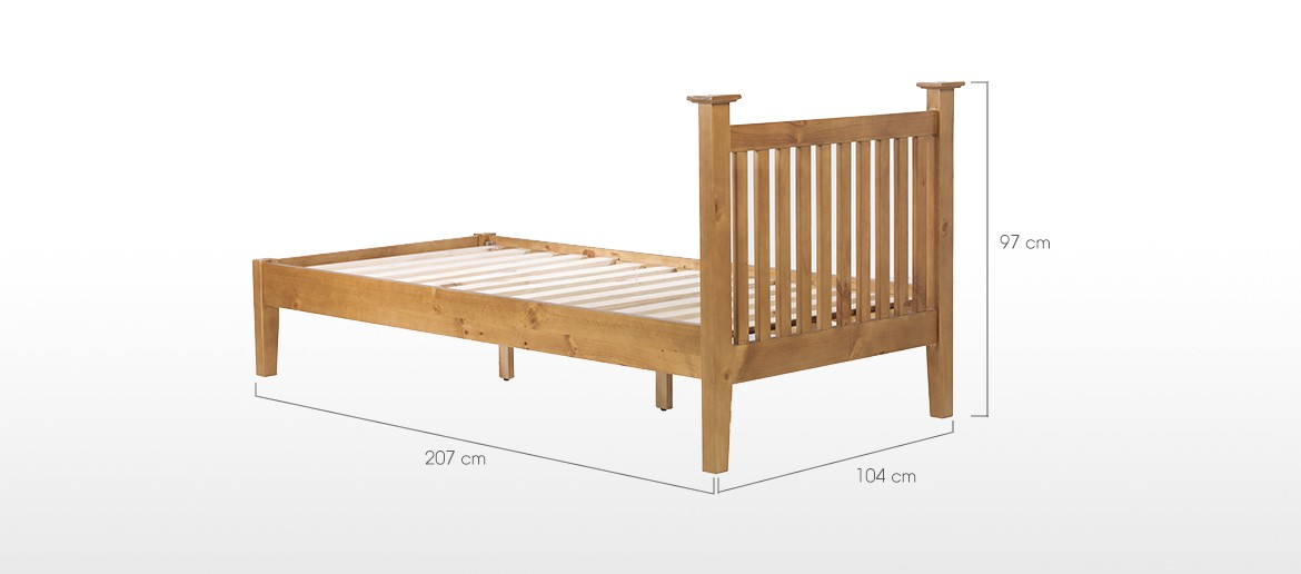 Essentials Pine Single Bed (3')