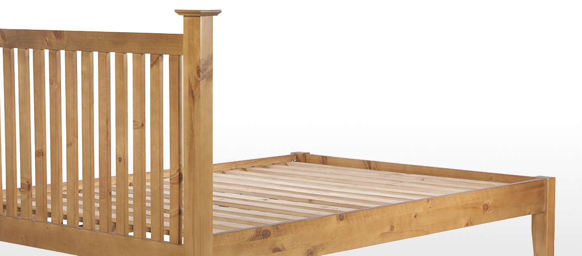 "Essentials Pine Double Bed (4' 6"")"