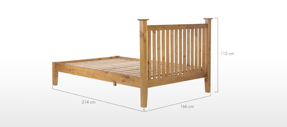 Essentials Pine King Size Bed (5')