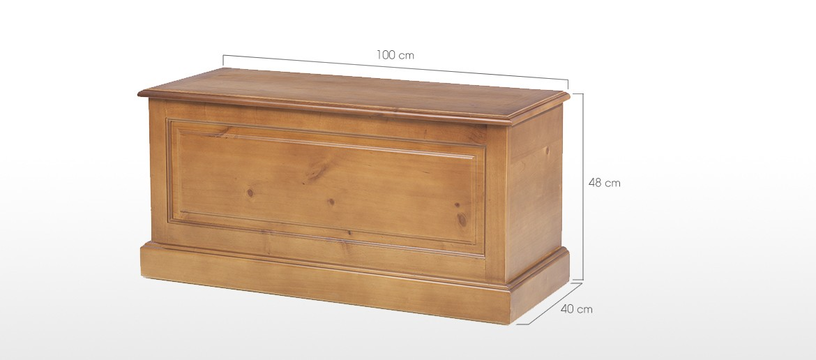 Essentials Pine Blanket Box