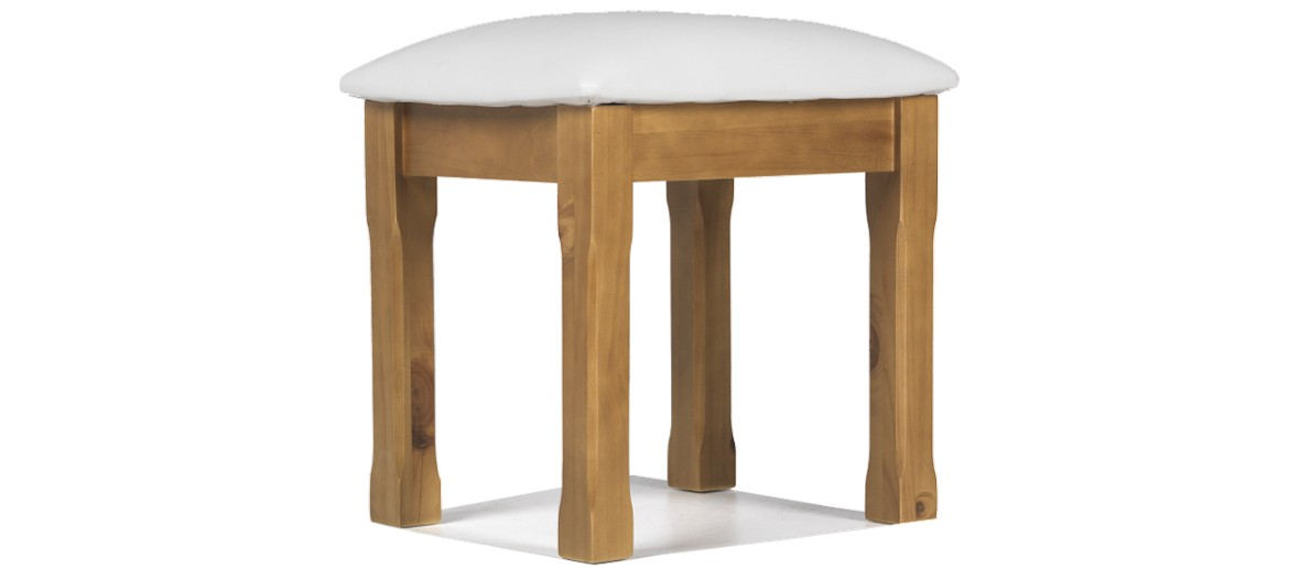 Essentials Pine Dressing Table Stool